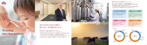 森永乳業アニュアルレポート2018「- Providing more than products - Annual Report」
